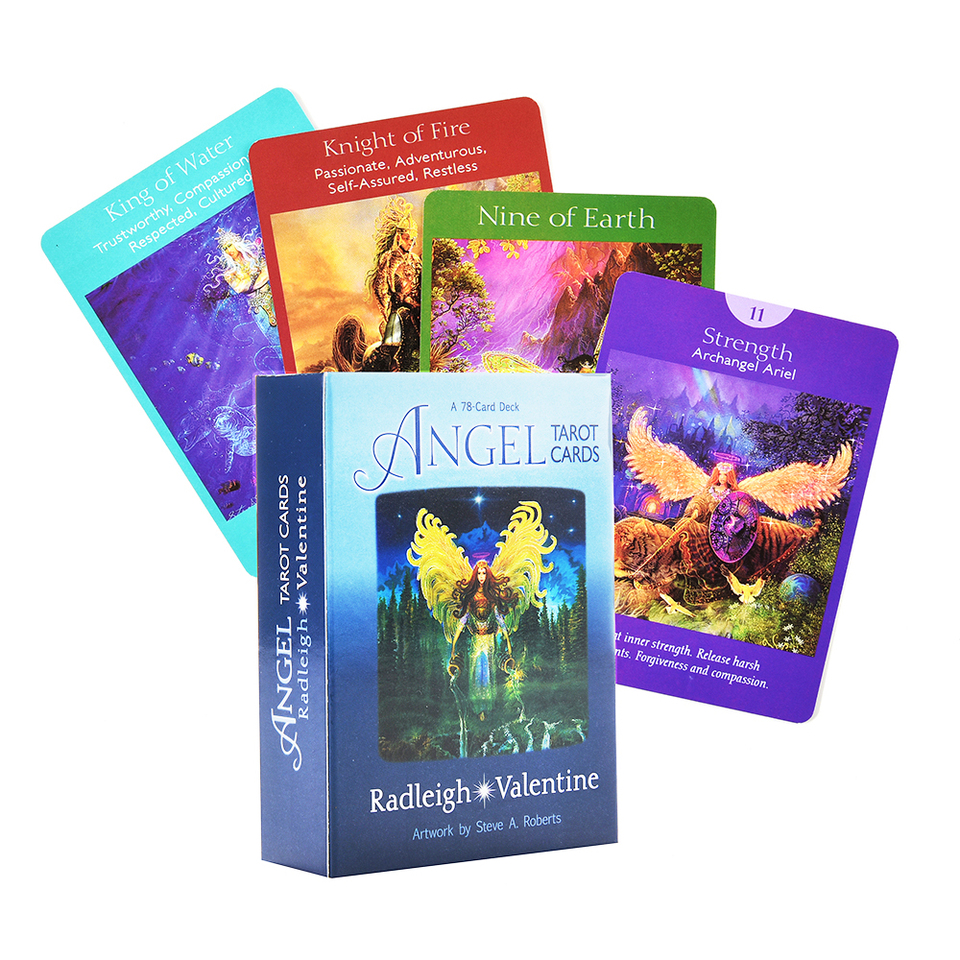 Angel Tarot Cards A 78 Card Deck And E Guidebook Cards Deck Tarot Oracle Cards Game Aliexpress