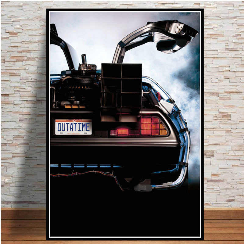 Back to the Future Movie Classic Cool Car Poster And Prints Wall Art Canvas Painting Vintage Pictures For Living Room Home Decor