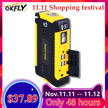 GKFLY Car Jump Starter Multi Function 16000mAh Starting Device Cables 12V Diesel Petrol Charger For Car Battery Booster Buster