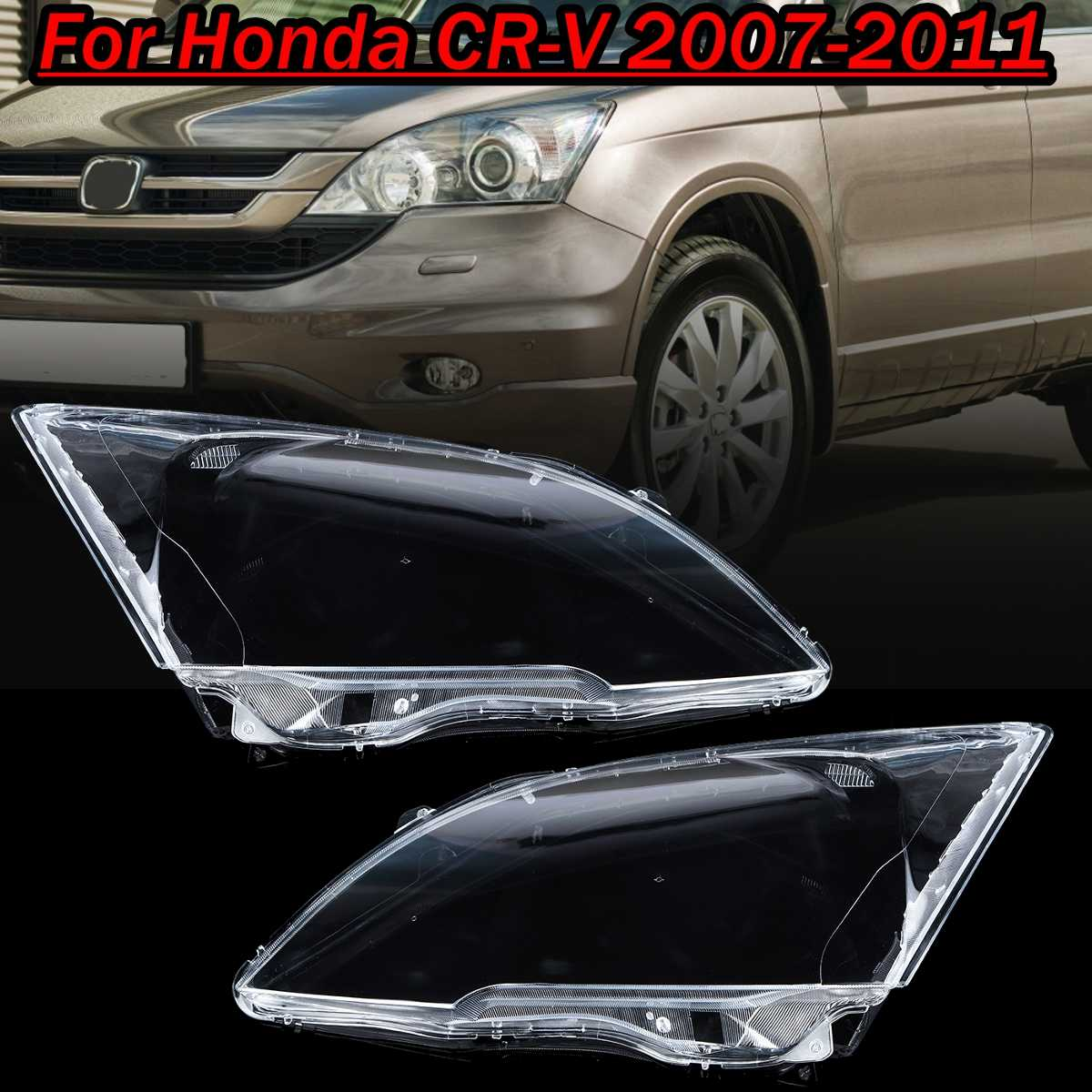 Pair Front Headlight Glass Transparent Lampshade PC Lampshade Anti Cracking Lens Shell For Honda CRV 2007 2008 2009 2010 2011