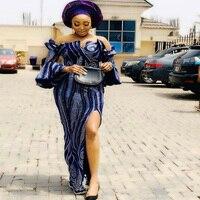 XIUYSAI Velvet Lace Fabrics Nigerian Stones Lace Fabrics African Tulle Lace Sequins Lace Fabric for Wedding Dress S324
