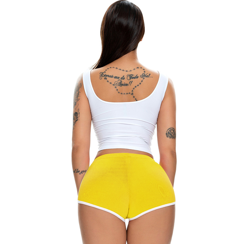 Micro Short Pole Dance Night Clubwear Bermuda Feminina Fitness Shorts Running Stretch Sports Shorts Sexy High Cut Biker Shorts