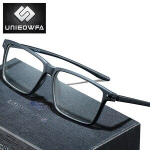 Image 1 - Óculos de prescrição progressiva homem fotochromic anti luz azul óculos de miopia óptica masculino claro coreia tr90 quadro