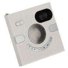 مكبر صوت للحائط راديو Fm مع عرض الوقت سماعة جاك دعم Aux الصوت Tf بطاقة قرص Usb مشغل Mp3 Usb تهمة