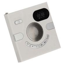 Muur Speaker Fm Radio Met Tijd Display Hoofdtelefoon Jack Ondersteuning Aux Audio Tf Card Usb Disk Mp3 Speler Usb Lading