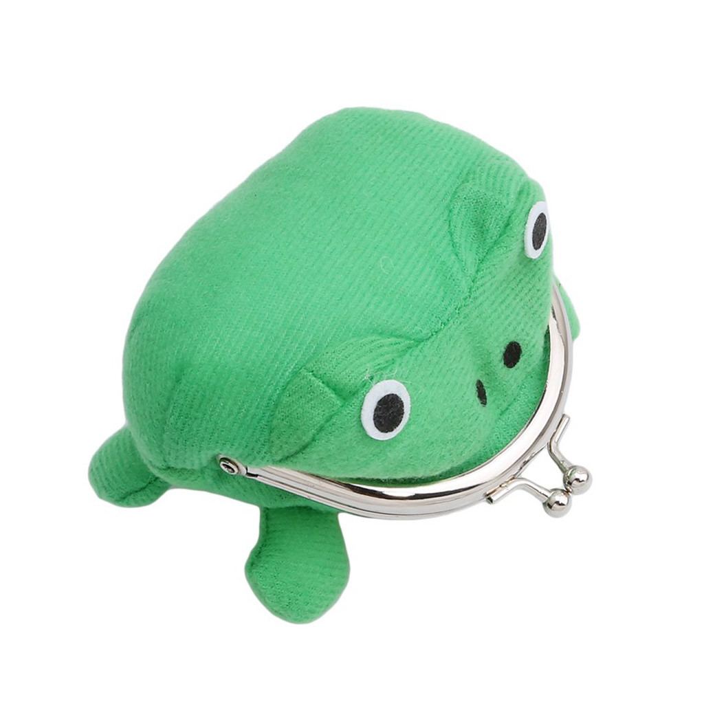 Animal Wallet Coin-Bag Mummy-Bags Gift Plush Funny Women NEW Green Toy