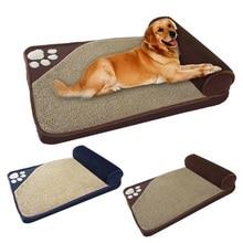 Большая комнатная собачка кровать зимние теплые спать в питомнике домик для домашних животных Подушка кровать Съемный ПЭТ гнездо для домашних животных