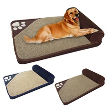 Large Pet Dog Bed Winter Warm Kennel Sleeping House  Pillow Removable Nest Supplies