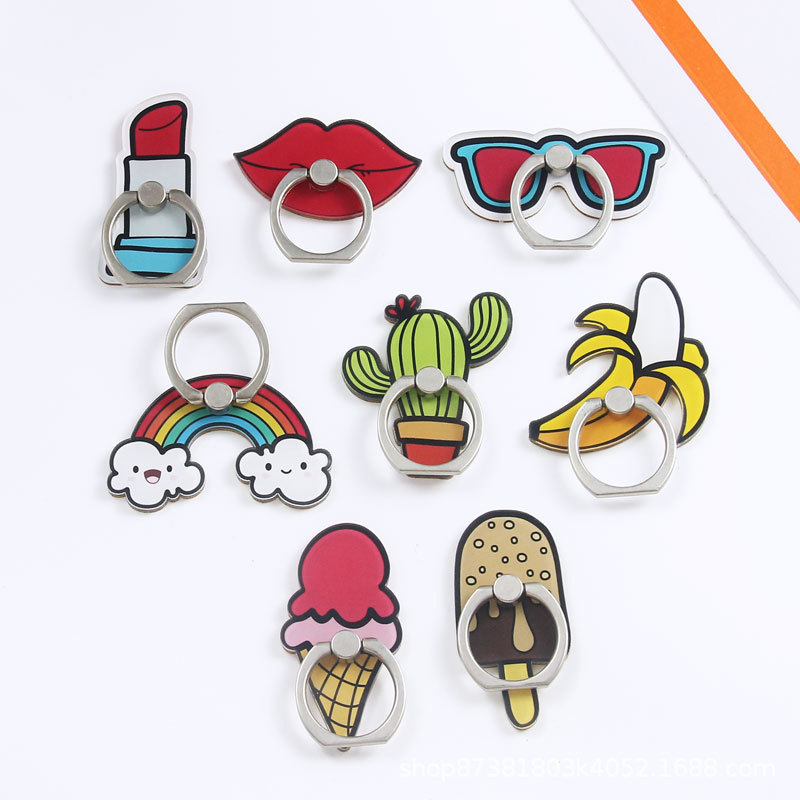 Universal Cartoon Mobile Phone Ring Holder Airbag Gasbag fold Stand Bracket For iPhone X XR Samsung Huawei Xiaomi