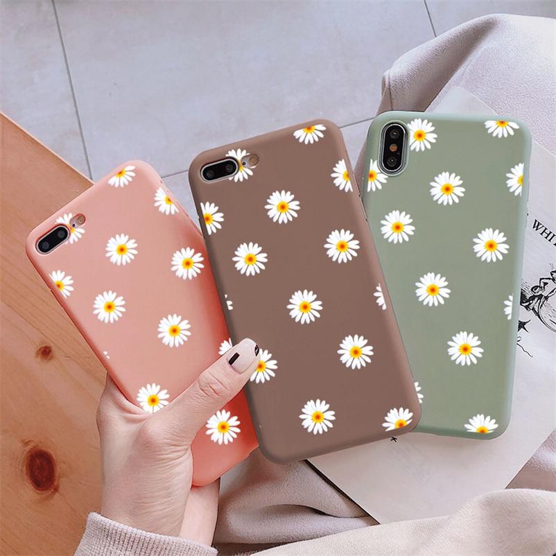 TPU Daisy Flower Cover For Samsung Galaxy A40 A50 A70 A10E A20 A20E A30 A50S M30S Note 8 9 10 S10E S8 S9 S10 S20 Plus Ultra Case
