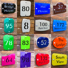 Customize HOUSE SIGN PLAQUE personalised address house door number street name acrylic office sign custom made 2 tile address plaque in grey