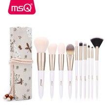 Msq 10 шт набор кистей для макияжа тональный порошок тени век