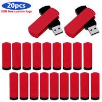 Memoria usb 2,0 de gran capacidad, pen drive de metal de 128GB, 64GB, 32GB, 16GB, 8GB, 20 piezas