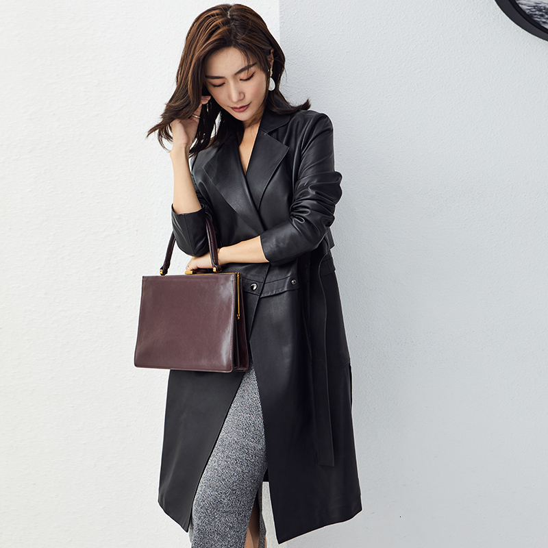 Genuine Leather Jacket Women Sheepskin Real Leather Jacket Slim Coat Windbreaker Women Clothes 2020 Chaqueta Mujer 71108 YY982
