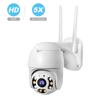 Super Mini 2MP 4MP PTZ Wifi IP Speed Dome Camera Outdoor 5X Zoom Wireless IR Cut 1080P Network Security Surveillance Camera