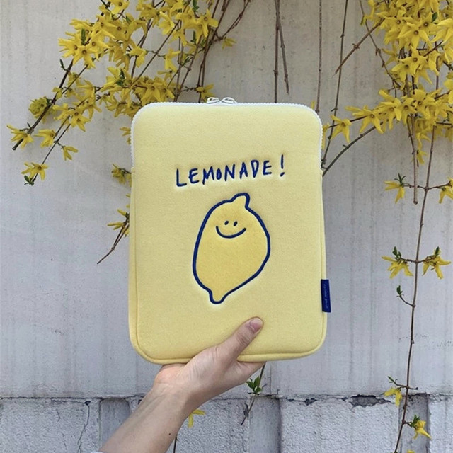 Korea Ipad Pro 9.7 10.8 11Inch Laptop Case Bag Korean Ins Lemon Cartoon 11 13 15 inch Tablet Protective Inner Sleeve Bag Pouch 1