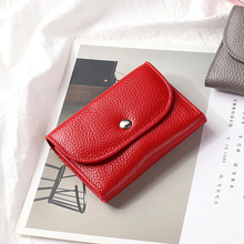 HOT SALE 2020 Coin Bag Zipper Wallet Women Genuine Leather Wallets Purse Fashion Short Purse With Credit Card Holder Hasp Design hot sell new thick purse fashion women zipper wallet wristlet bag with serpentine genuine cow leather