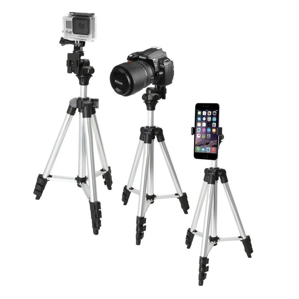 Extensible Mobile téléphone intelligent appareil photo numérique trépied support de montage pince ensemble pour Nikon pour Canon pour iPhone 6 6s 7 110cm/65cm