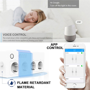 Image 4 - Smart WiFi Alexa Power Strip Intelligent Socket Switch 4 AC Outlets 4 Fast Charging USB Port For  Echo Google Assistant 16A 250V