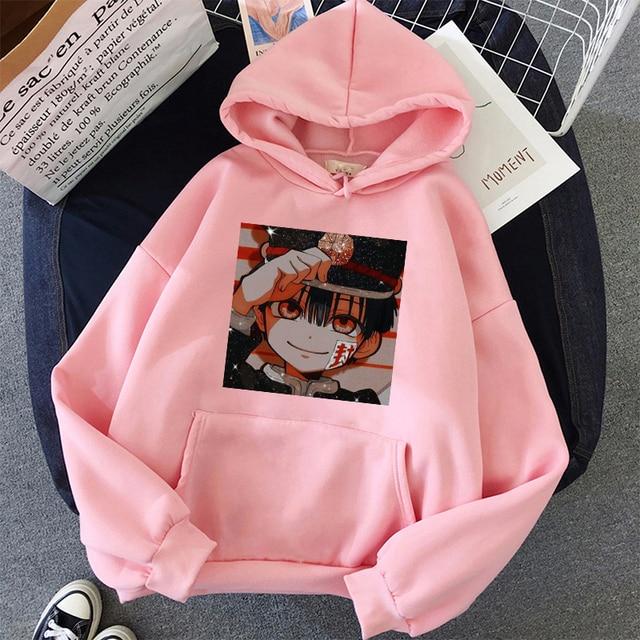 Jibaku Shounen Hanako kun Harajuku Womens Hoodie Fashion Fleece Hoodies Casual Clothes Street Loose Female Sweatshirt 3