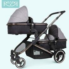 Брендовая детская коляска для двух детей, коляска для близнецов, коляска для детей от 0 до 36 месяцев, 4 цвета, база, высокое качество, автомобильный аксессуар для отправки