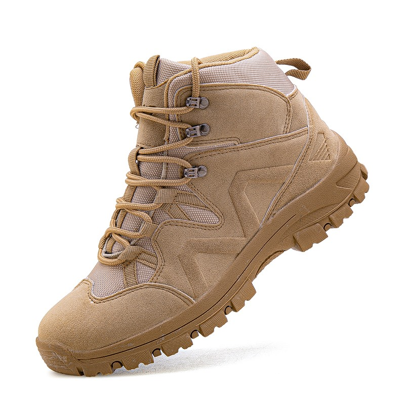 Men Tactical Boots Army Boots Military Desert Waterproof Work Safety Shoes Climbing Hiking Sport Shoes Ankle Men's Outdoor Boots