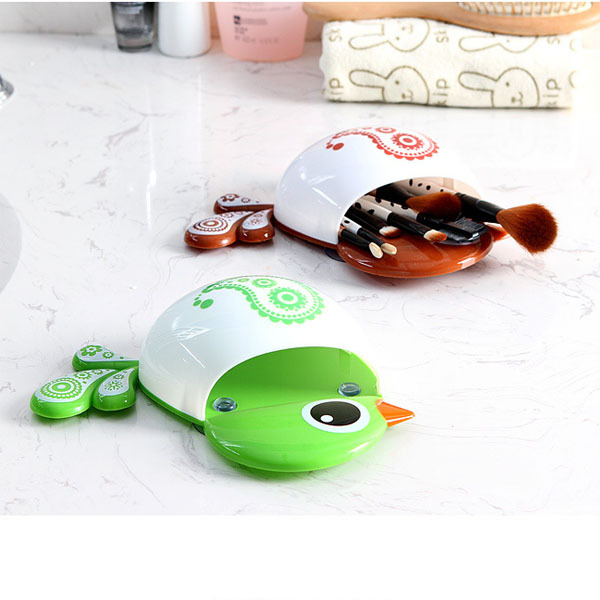 1 piece funny popular favorite child cartoon bird pattern suction cup tooth brush holder bathroom accessories for toothbrush