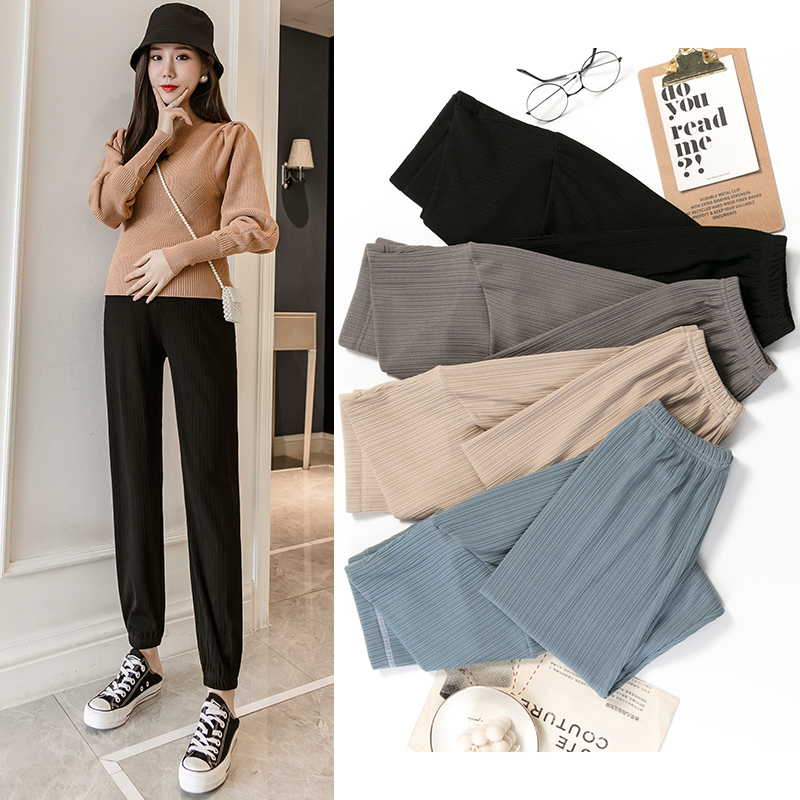 Comfy Leisure Pregnancy Knicker Adjustable Waist Casual Women pant For Pregnant Women Maternity Pants Clothes Soft Slim 2021 New