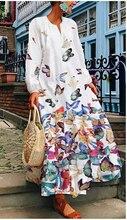 Женское осеннее платье с длинными рукавами Модное Длинное Платье
