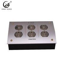 6*米国ハイファイe TP60 GC 303 ac電源ディストリビューターac 125v 250v 50/60hz 15A 15amp iecインレット電気プラグソケットコンセント電源フィルター