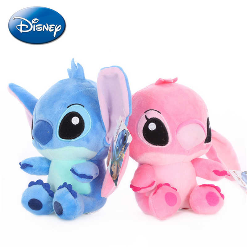 20cm Disney Lilo i Stitch modele do pary Cartoon wypchane pluszowe lalki Anime pluszowe zabawki dla dzieci wisiorek zabawki dziewczyna dzieci prezent urodzinowy
