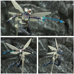 "Image 2 - ハチ 6 ""アクションフィギュアantman 2 アリ男と継続を女性ナディアkoのshf endgame伝説復讐おもちゃ人形"