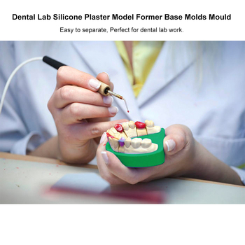 5Pcs/set Lab Silicone Plaster Model Former Base Molds Mould without Tongue Material Plaster Model