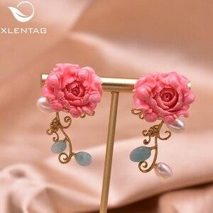 Image 3 - Xlentag天然真珠のイヤリングシルバー925sのイヤリング女性のアクセサリー結婚式の豪華なインディアンジュエリー韓国イヤリングGE0024
