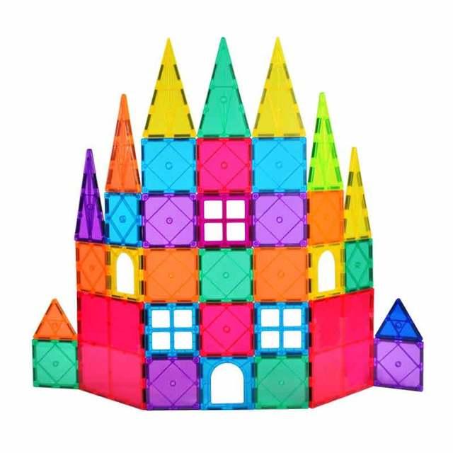 magnetic blocks Children s Intellectual Magnetic Film Building Blocks Multi Type Fun Toys 60pcs Box magnetic