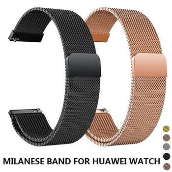 Milanese Loop Strap For Huawei Watch GT 2E/GT/GT2 46MM Smart Watch Band 22MM Replaceable Bracelet Straps For Honor Magic Correa metal wrist strap for huawei watch gt 2 46mm 42mm gt active band bracelet for honor magic replaceable accessories watchbands