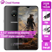 DOOGEE X95 Android 10 4G-LTE Cellphones 6 52 #8243 Display MTK6737 16GB ROM Dual SIM 13MP Triple Camera 4350mAh Battery cheap Not Detachable Fingerprint Recognition Other Adaptive Fast Charge Smart Phones Screen Slider Capacitive Screen English Russian