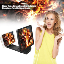 Holder Magnifying Phone Foldable Amplifier Curved-Screen Video 3D HD Glass-Stand-Bracket