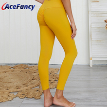Acefancy Yoga Pants For Woman Solid Booty Leggings Ladies Sexy Elastic GX042 Running Pants Leggings Sport Women Fitness Workout