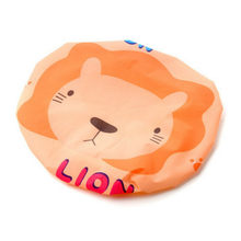 1pcs Orange Lion Baby Tub Baby Safe Baby Kids Hat Baby Shower Protect Eyes Hair Wash Children Waterproof Cap(China)