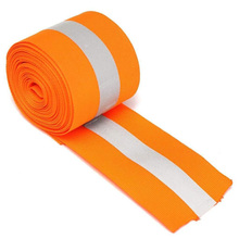 Warning Reflective Florescent Strip Tape Clothes Ribbon Safety Luggage Sewing