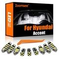 Zoomsee интерьер светодиодный для Hyundai акцент LC MC RB 1995-2020 Canbus автомобиля в маскирующем колпаке для внутренних помещений чтение карт светильник ...