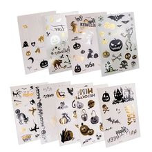 9 Sheets Children Tattoo Sticker Halloween Cartoon Luminous Glow in the Dark Temporary Fake Tattoos  Stickers
