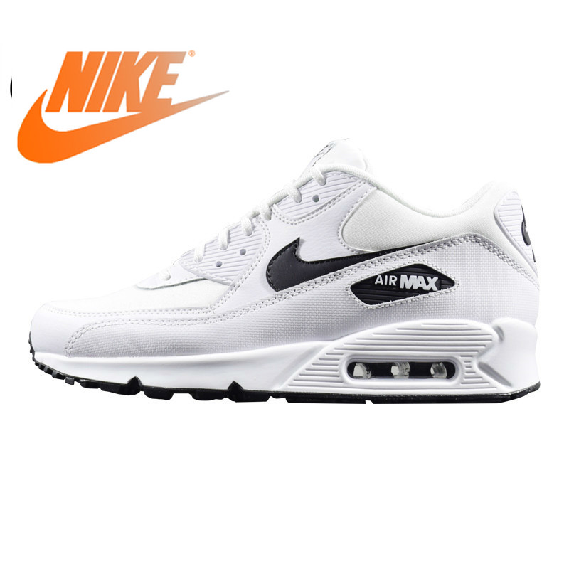 Original Authentic NIKE AIR MAX 90 ESSENTIAL Women's Running Shoe Classic Outdoor White Sneakers Comfortable 2019 New 325213-131