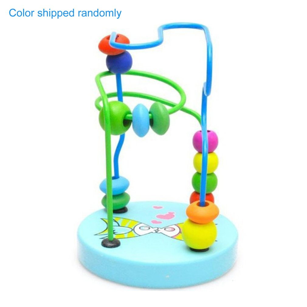 Children's Toys Baby Doll Kids Educational Toy Beads String Of Beads Game Mini Beads Around Animal Chassis Mathematics Toy New