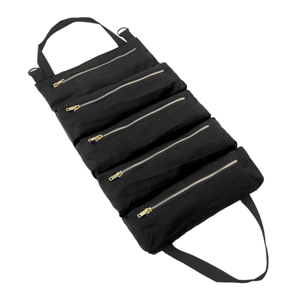 Hot Sale Roll Tool Roll Multi-Purpose Tool Roll Up Bag Wrench Roll Pouch Hanging Tool Zipper Carrier Tote Carrier Sling Holder