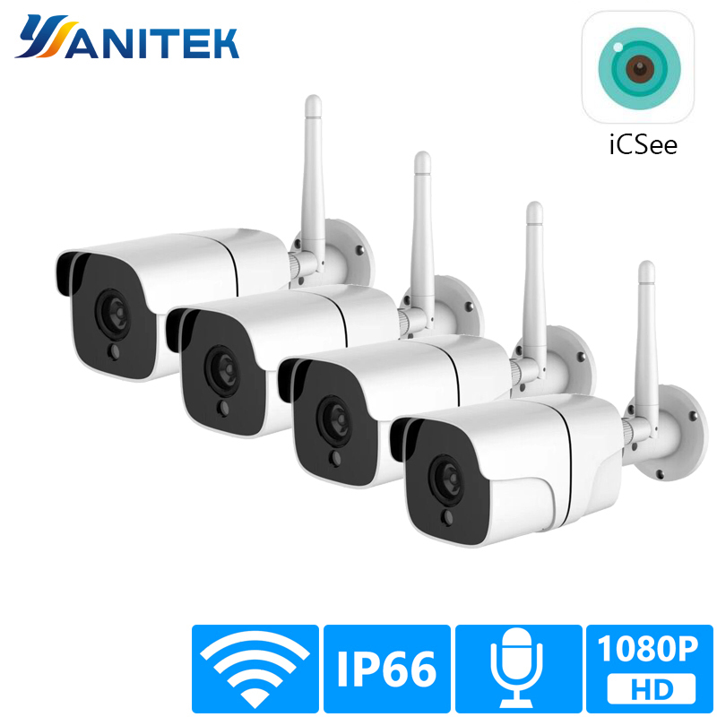Yanitek IP Camera Wifi 2MP Waterproof HD H.264 Security Camera Outdoor Wireless Night Vision Surveillance Bullet HD CCTV Camera