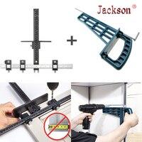 Slide conjunto de gabarito gaveta carpintaria ferramenta de montagem armário magnético universal gabinete móveis extensão do armário ferramenta de ferragem|Conjuntos ferramenta manual| |  -