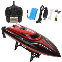 H101 Speed Boat 2.4GHz 4CH RC Remote Control High Speed Boat Racing with LCD Display Toys Gift for Children Kids