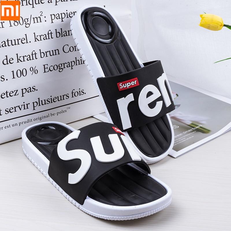 Xiaomi Men's Shoes Soft Massage Slippers Men Plus Size Fashion Summer Flip Flops Outdoor Beach Sandal For Women Multiple Colour(China)